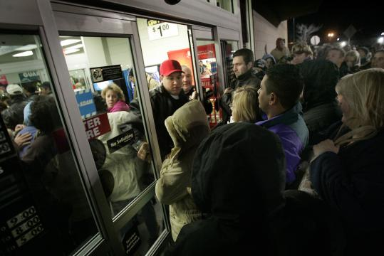 In 2005, a Black Friday crowd at a Walmart store in Danvers got out of control and police had to be called in.