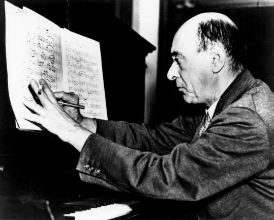 Arnold Schoenberg (1874-1951) came to the United States in 1934 and lived in Los Angeles for the rest of his life. The composer, who was also an artist, made this self-portrait in 1910.