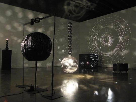 "Otto Piene's ""Lichtballett'' or ""Light Ballet'' installation at MIT List Visual Arts Center."