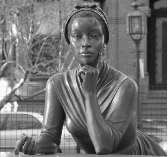 "Poet Phillis Wheatley is one of three women celebrated in the Boston Women's Memorial. She is the subject of the book ""Phillis Wheatley: Biography of a Genius in Bondage'' by Vincent Carretta."