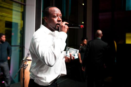 Wyclef Jean at the MFA Saturday night.