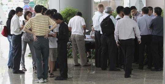 Clients at MF Global's office in Singapore early this month were told their funds were frozen.