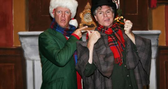 Reed Martin and Austin Tichenor star in &#8220;The Ultimate Christmas Show (abridged).&#8217;&#8217;