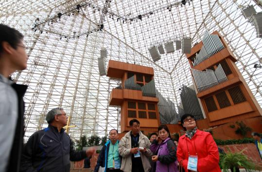 Crystal Cathedral, in Garden Grove, Calif., saw its revenue plummet in 2008 and sought bankruptcy protection last year.