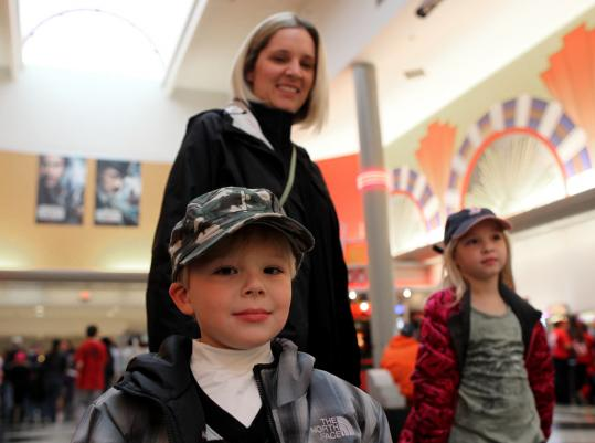 Elizabeth Gilbert went with her son, Sean, and daughter, Kathryn, to see 'The Muppets.'