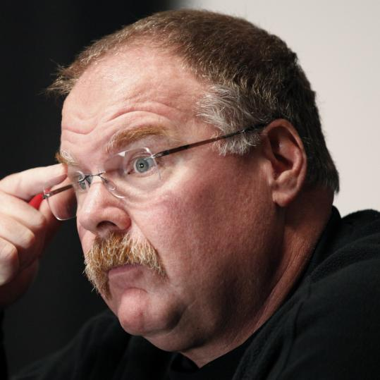 ANDY REID Entrenched in the moment