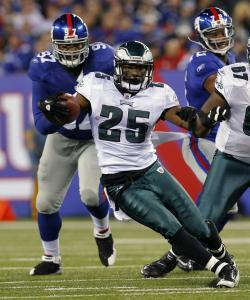 LeSean McCoy leads the NFL in rushing with 1,019 yards and has 12 touchdowns.