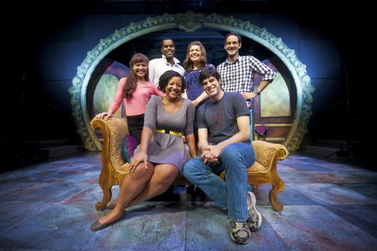 Seated: Kami Rushell Smith, Daniel Berger-Jones. Standing (from left): McCaela Donovan, De'Lon Grant, Sasha Castroverde, Nael Nacer.