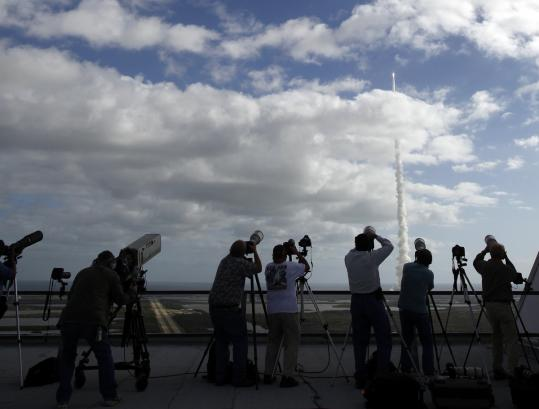The Mars Science Laboratory launched from Cape Canaveral yesterday on a mission to seek evidence of microbial life on the planet. It is scheduled to arrive in August.