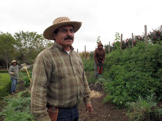 Manuel Jimenez, a small farm advisor, also runs a program in the 14-acre botanical garden in Woodlake, Calif., engaging youth in agriculture to teach them life skills and to avoid gangs.