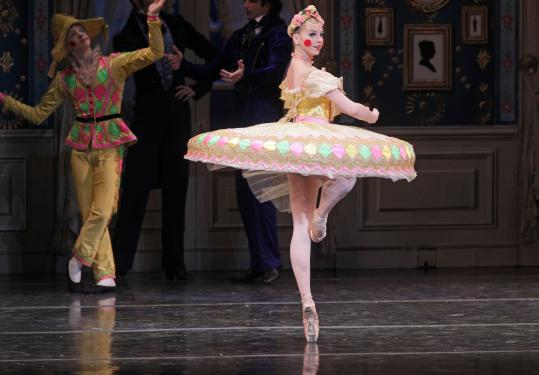 "Whitney Jensen during a recent rehearsal for Boston Ballet's production of ""The Nutcracker.''"