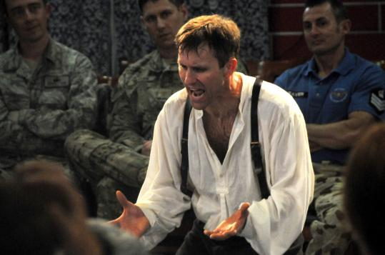 Tyrus Lemerande performed his one-man show in Kabul.