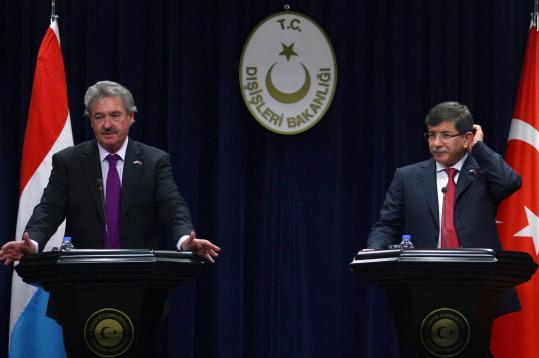 Turkey's foreign minister, Ahmet Davutoglu, said his government was hopeful that an incursion would be unnecessary.