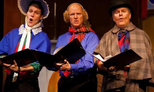 "From left: Matt Rippy, Reed Martin, and Austin Tichenor in ""The Ultimate Christmas Show (abridged).''"