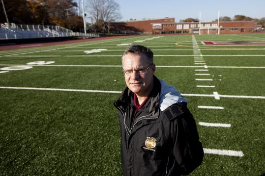 Dedham High athletic director Michael Plansky on the new field, the centerpiece of a $3.2 million upgrade of the school's athletic facilities.