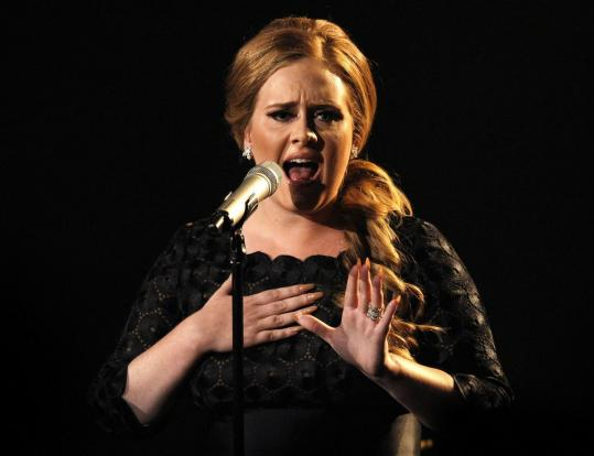British singer-songwriter Adele was nominated in the Grammy categories of album, song, and record of the year last night.