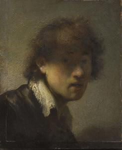 The new Clark exhibit features self-portraits by Rembrandt (left) and by Degas (right) from their early years.