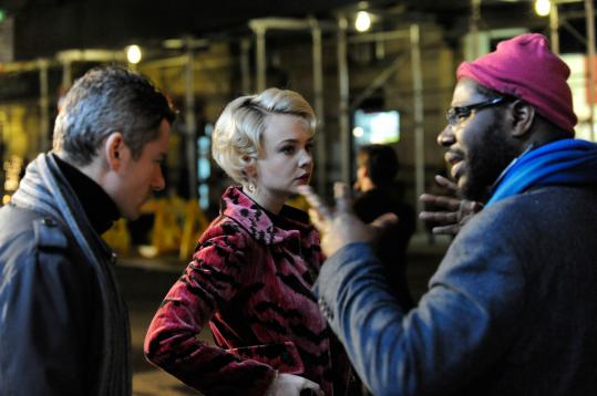 "Director Steve McQueen (right) with James Badge Dale and Carey Mulligan on the set of ""Shame,'' the highest profile NC-17 release to date."