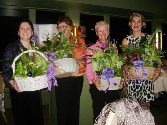 South Shore Women&#8217;s Business Network recently recognized four of its founders (from left): Susan Hammond, Pat Mullaly, Nancy Boyle and Vickie Donlan.