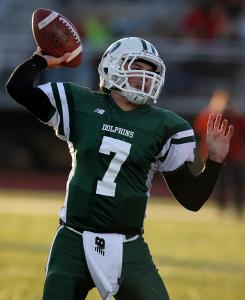 Dennis-Yarmouth quarterback Matt Montalto had a hand in all five touchdowns, accounting for three via the air.