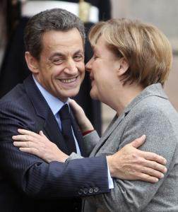 Chancellor Angela Merkel of Germany and President Nicolas Sarkozy of France meet in Paris today to unveil a proposal for closer political and economic ties between the 17 euro countries.