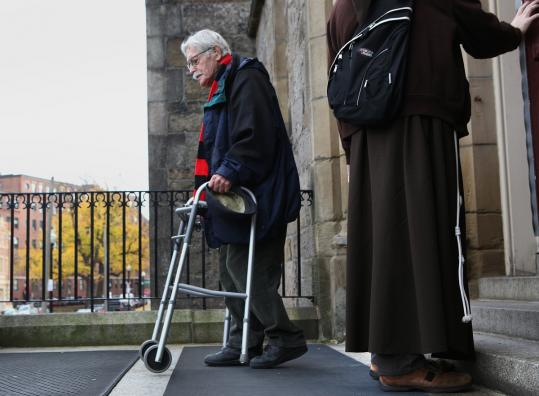 A parishioner left Cathedral of the Holy Cross in the South End yesterday. Details of sharing are yet to be announced.