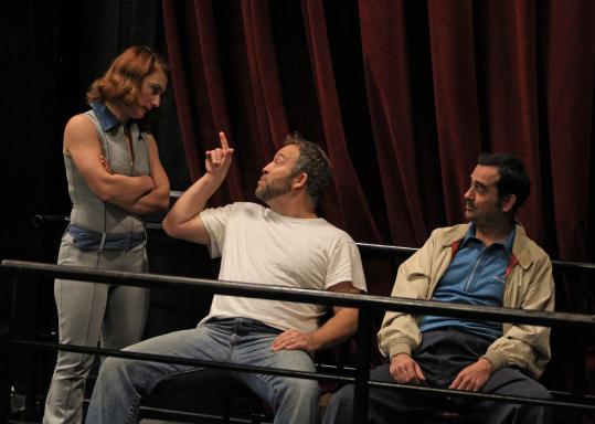 "Paulo Branco (right, with Jen Alison Lewis and Peter Darrigo) stars as the title character in ""The Friends of Eddie Coyle,'' pictured in rehearsal."