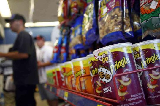 Diamond Foods said in April it would buy Pringles in a deal valued at $2.35 billion. The deal would double Diamond's annual sales.