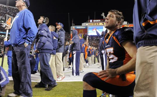 "Tim Tebow, who has been dubbed the ""Mile High Messiah,'' has credited God and his teammates for the Broncos' success."