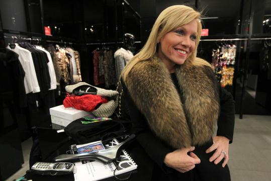 Ashley Bernon of Wellesley at Saks Fifth Avenue in Boston.