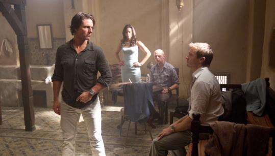 "From left: Tom Cruise, Paula Patton, Simon Pegg, and Jeremy Renner in ""Mission: Impossible - Ghost Protocol.''"