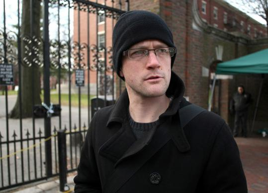 Brian McCammack, a doctoral student, has been among the Occupy Harvard protesters.