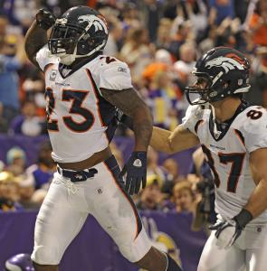 Willis McGahee (left) is averaging 4.6 yards per carry for Denver's league-leading rushing attack.