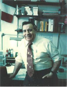 Ralph Saya, shown in the film department at WBZ, handled myriad technical issues and repairs at the station.