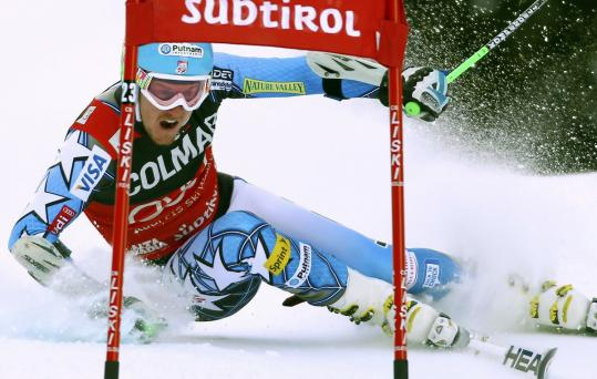 Ted Ligety turned in the fastest first-run time at the alpine event before settling for fourth place.