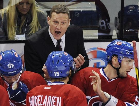 Ex-assistant Randy Cunneyworth is now the interim head man behind the Canadiens' bench.