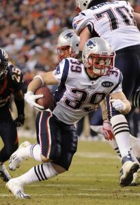 Patriots' Danny Woodhead showed great vision and moves and scored his third-quarter touchdown basically untouched.