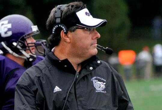 Curry College head football coach Skip Bandini was a captain and lineman while at Massachusetts Maritime Academy.