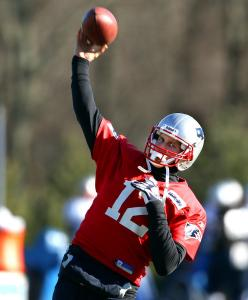 Tom Brady's right arm seemed fine, but he was on the injury report because of his left shoulder.
