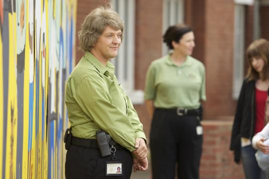 "Chris Lilley plays many roles in ""Angry Boys,'' among them (from left) are prison officer Gran, twin brothers Nathan and Daniel, and rapper S.mouse."