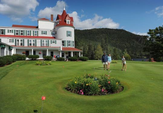 The Balsams Grand Resort Hotel in Dixville Notch, N.H., is undergoing major renovations. The resort is the traditional voting location for the town's midnight balloting during the New Hampshire primary.