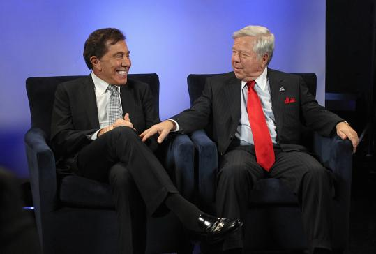 Steve Wynn (left) and Robert Kraft say a casino would add $10m in local revenue.