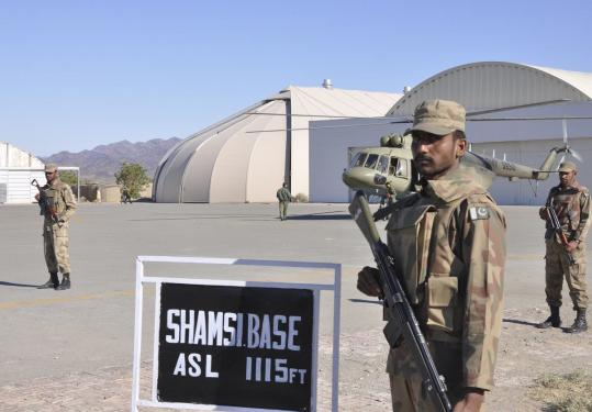 Pakistan halted drone operations at its remote Shamsi air base in Baluchistan Province after US drone strikes last November killed two dozen Pakistani soldiers.