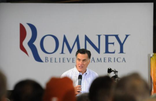 Mitt Romney, in Greer, S.C., yesterday, said the company he once led created a net of over 100,000 jobs while he was there.