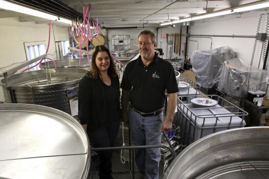 Donna Martin and Rick Rousseau, owners of Mill River Winery.