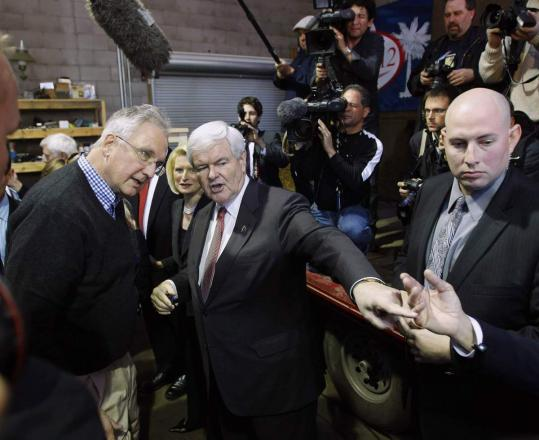 Republicans Newt Gingrich, Mitt Romney, Ron Paul, and Rick Santorum campaigned in South Carolina yesterday, seeking support in the state's all-important presidential primary tomorrow.