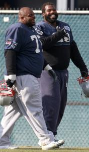 Vince Wilfork (left), Gerard Warren and the rest of the Patriots defense gained confidence from last Saturday's win.