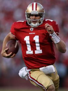 Alex Smith's 28-yard bootleg gave the 49ers the lead last week, and, 2:02 later, his 14-yard pass gave them the win.