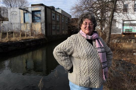 Rose Mary O'Connor of the Mack Park Neighborhood Association at the Salem Oil and Grease Co. site, which is scheduled to be redeveloped.