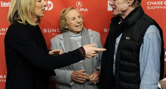 "Rory and Ethel Kennedy spoke with Robert Redford at the Sundance Film Festival in Park City, Utah. Rory Kennedy interviewed her mother and other family members for ""Ethel.'' Below, Ethel stood with Robert F. Kennedy in 1961."